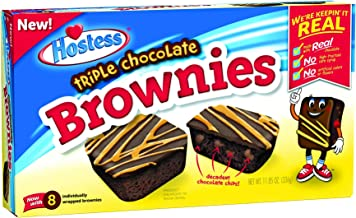 product image for Hostess Triple Chocolate Brownies (11.85 Ounce, 8 Count Package)