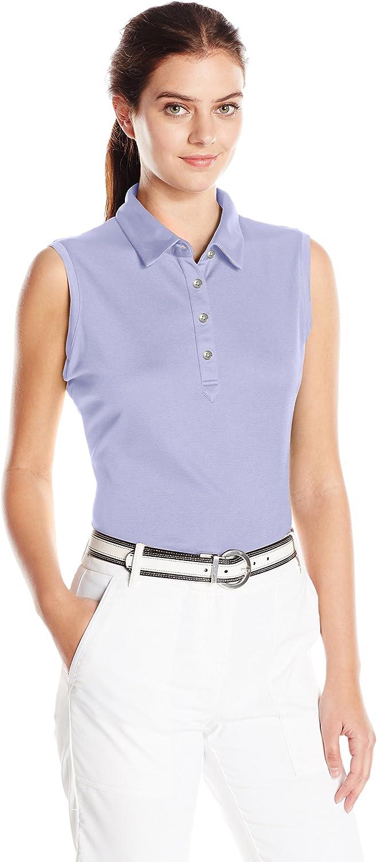Cutter & Buck Womens Moisture Wicking, UPF 50+, Sleeveless Clare Polo Shirt Shirt