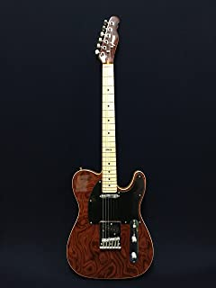 Haze 1918 926 Solid Body LightWeight T Style Electric Guitar,SS,Dark Brown Waves