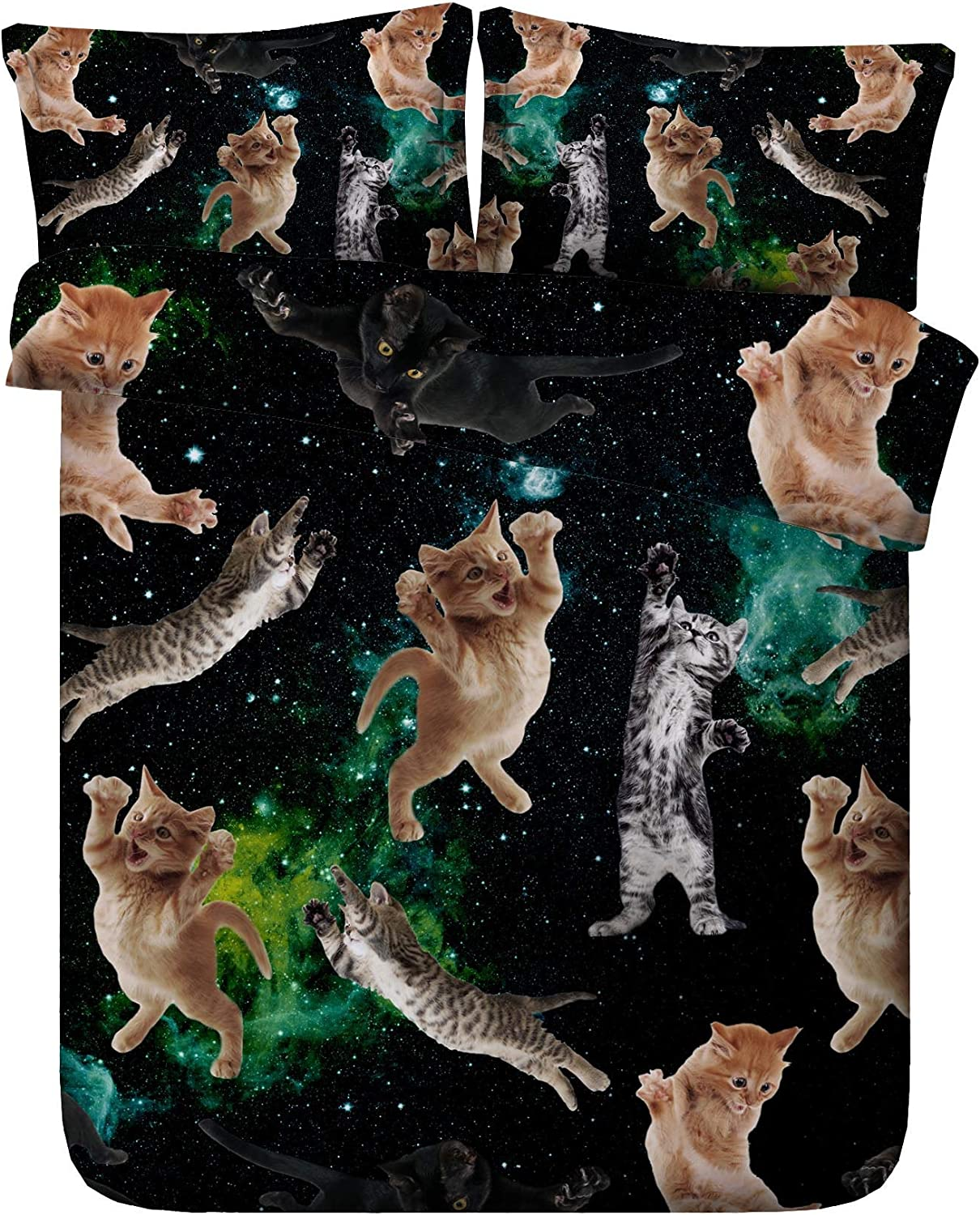 Royal Linen Source Free Shipping New Drop Max 56% OFF 3PCS Kittens Cute Funn in Space
