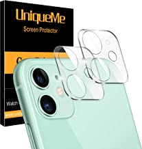 [ 2 Pack ] UniqueMe Camera Lens Protector for iPhone 11 Tempered Glass [High Definition] Scratch Resistant 6.1""