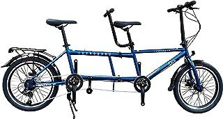 一勝堂(Isshoudou) 二人乗り折り畳みタンデム自転車 二人で乗れる 20インチ メカニカルディスクブレーキ オリジナルタンデム専用フレーム シマノ7速コンポ タンデムカテゴリー提案モデル Duo デュオ 親子 カップル 目の不自由な方、...