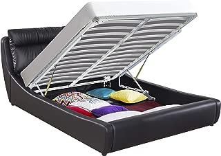 Greatime BS2405 Modern Storage Bed, Queen, Black