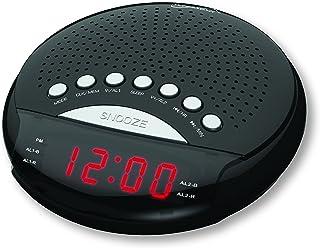 SuperSonic Digital AM/FM Radio Alarm Clock, Black