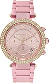 Parker Stainless Steel Watch With Glitz Accents