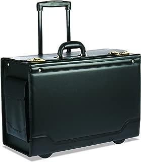 Stebco Leather Trim Wheeled Catalog Case