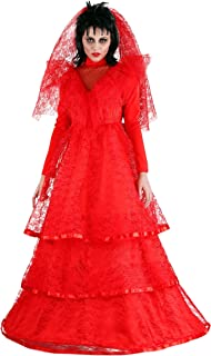 Women's Ghostly Wedding Dress Plus Size Red Gothic Wedding Dress Costume