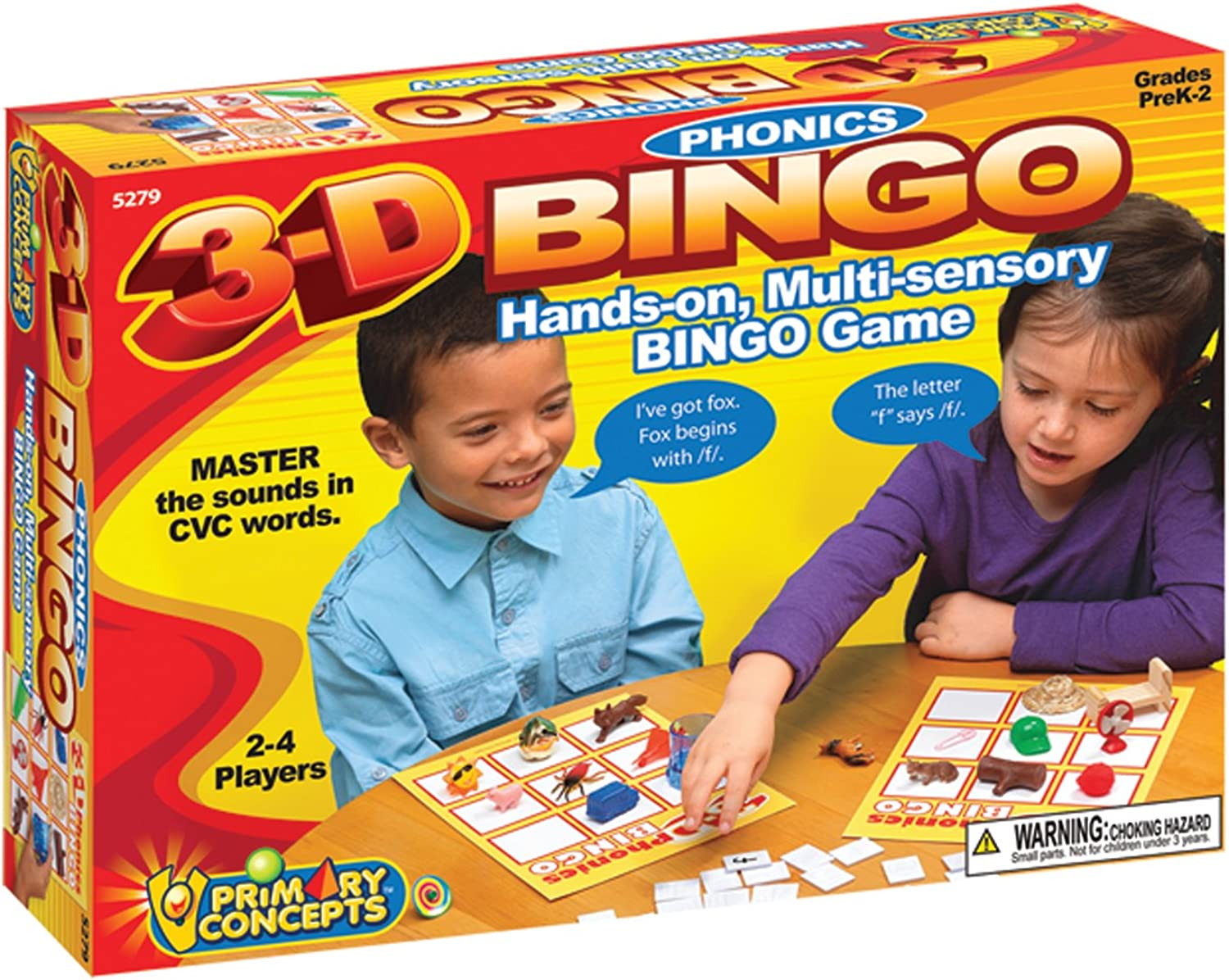 Primary Concepts 3D Phonics Bingo Learning Kit