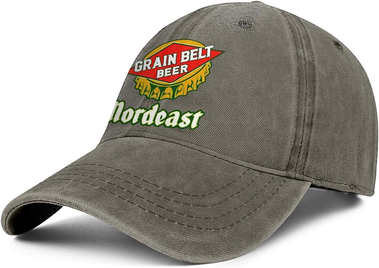 Mens Cowboy Cap Grain-Belt- Vintage Baseball Adjustable Detroit Max 66% OFF Mall Hat Soft