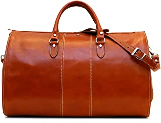 Floto Venezia Leather Garment Duffel Bag, Travel Bag