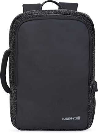 MUFUBU Presents Hangoverr Anti Theft Laptop Bags for Men with USB Port and Back Security Pocket - Black