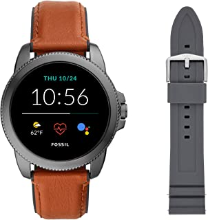 Men's Gen 5E 44mm Stainless Steel Touchscreen Smartwatch with Speaker, Heart Rate, Contactless Payments and Smartphone Notifications