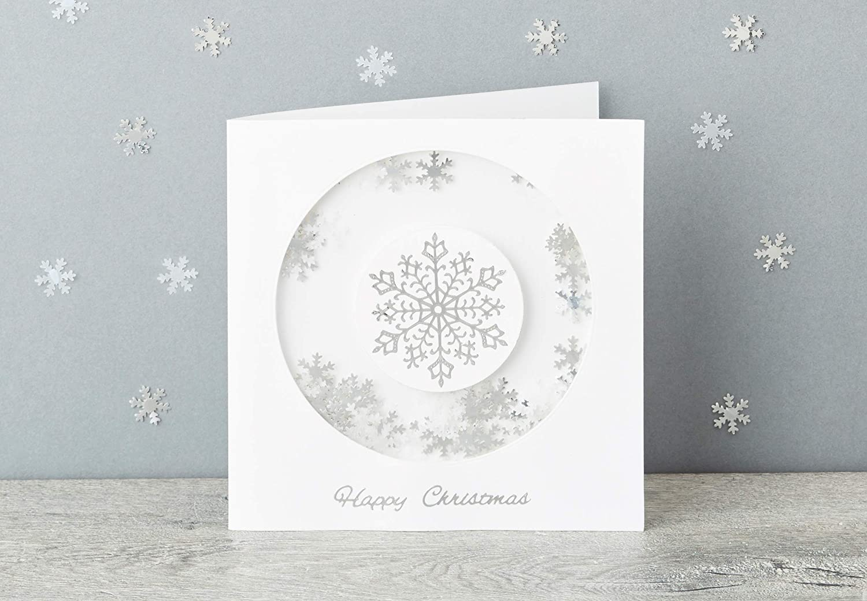 Plata Copos de nieve Docrafts Glitterations