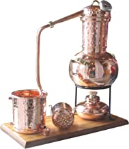 Dr. Richter® Destille 2 Liter Modell Kalif mit Aromakorb, Thermometer und Spiritusbrenner (Aktuelles Modell; Premiumedition II)