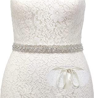 SWEETV Rhinestone Wedding Bridal Belt Bridesmaid Sash for Party Prom Evening Dresses Gown