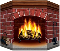 Beistle Brick Fireplace Stand-Up, 3 by 25-Inch, Multicolor