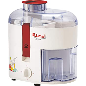 Rico Electric Juicer for Fruits and Vegetables with Japanese Technology, 350 Watt, 2 Year Replacement Warranty I Made In India