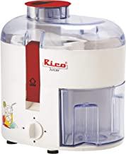 Rico Electric Juicer for Fruits and Vegetables with Japanese Technology, 350 Watt, 2 Year Replacement Warranty I Made In I...