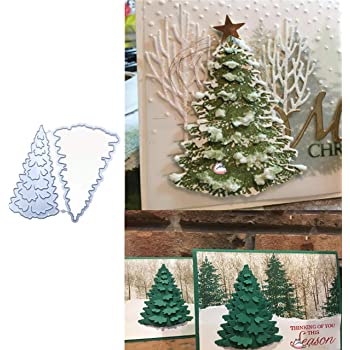 Christmas Snow Tree Metal Cutting Dies Cuts Stencil Scrapbook Embossing Craft Hi