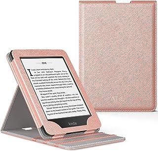 ATiC NEW-Kindle Paperwhite(Newモデル)ケース Kindle Paperwhite 2018 第10世代用直立タイプ全面保護スタンドカバー(オートスリープ機能付き) RoseGold