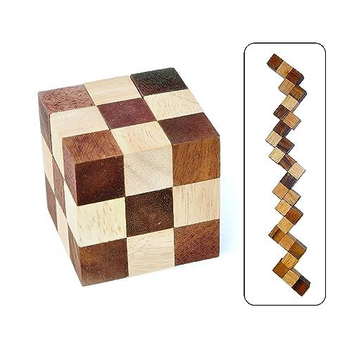 Logica Giochi art. SERPENT - CASSE-TÊTE LOGIQUE 3D - Difficulté 3/5 DIFFICILE - Casse-tête en bois
