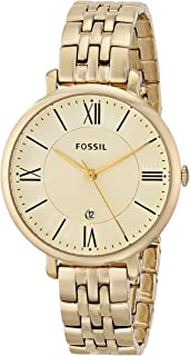 Fossil Women's Es3434 Jacqueline Gold Tone Stainless Steel Watch