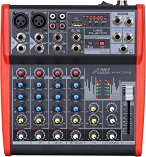 Audio2000'S AMX7312-Professional Six-Channel Audio Mixer with USB and DSP Processor (AMX7312)
