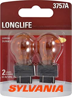 SYLVANIA - 3757A Long Life Miniature - Amber Bulb, Ideal for Parking, Side Marker, and Turn Signal Applications. (Contains 2 Bulbs)