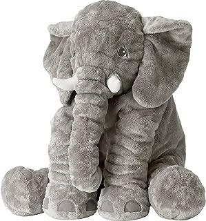 Weslisa Plush Elephant Toys Soft Animal Toys Stuffed Cushion Cute Children's Gifts (Grey)