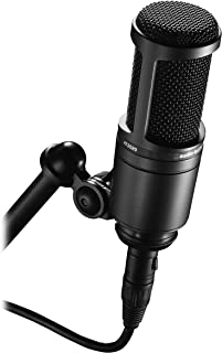 Audio-Technica AT2020 Cardioid Condenser Studio XLR Microphone, Black, Ideal for..