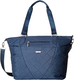Quilted Avenue Tote with RFID Wristlet