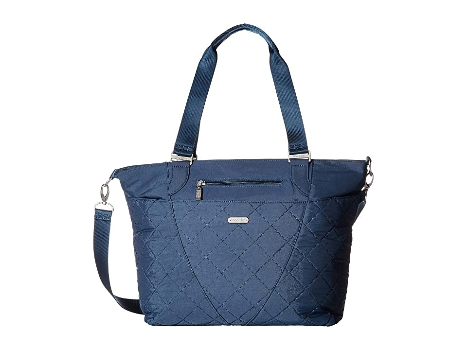 Baggallini Quilted Avenue Tote with RFID Wristlet (Slate Quilt) Tote Handbags