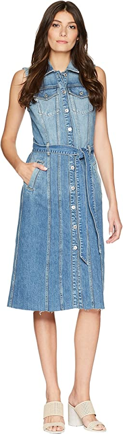 7 For All Mankind - Midi Trucker Vest Dress