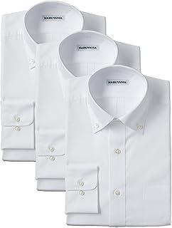 (はるやま)HARUYAMA 42サイズ展開 形態安定加工 イージーケア長袖白ボタンダウンワイシャツ 3枚セット