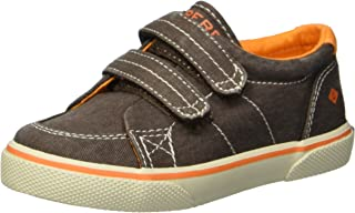 SPERRY Boys' Halyard H&L Sneaker, Brown Saltwash, 7.5 Wide US Toddler