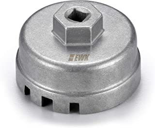 EWK 64.5mm 14 Flute Oil Filter Cap Socket Wrench Removal Tool for Toyota Prius Tundra Corolla 1.8L 2.0L Engine 4 Cylinder