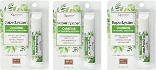 Super Lysine Plus+ ColdStick, SPF 21, Regular 0.18 oz (Pack of 3) by Quantum Research