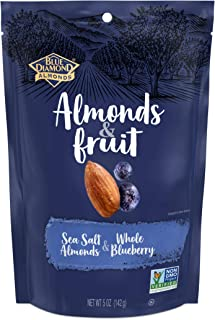 Blue Diamond Almonds & Fruit Bag, Sea Salt Almonds & Whole Blueberry, 5 oz