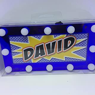 DAVID Childrens LED Personalised Name In Lights room Sign