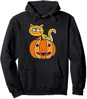 Peek-A-Boo Kitten Pumpkin Cat Pullover Hoodie