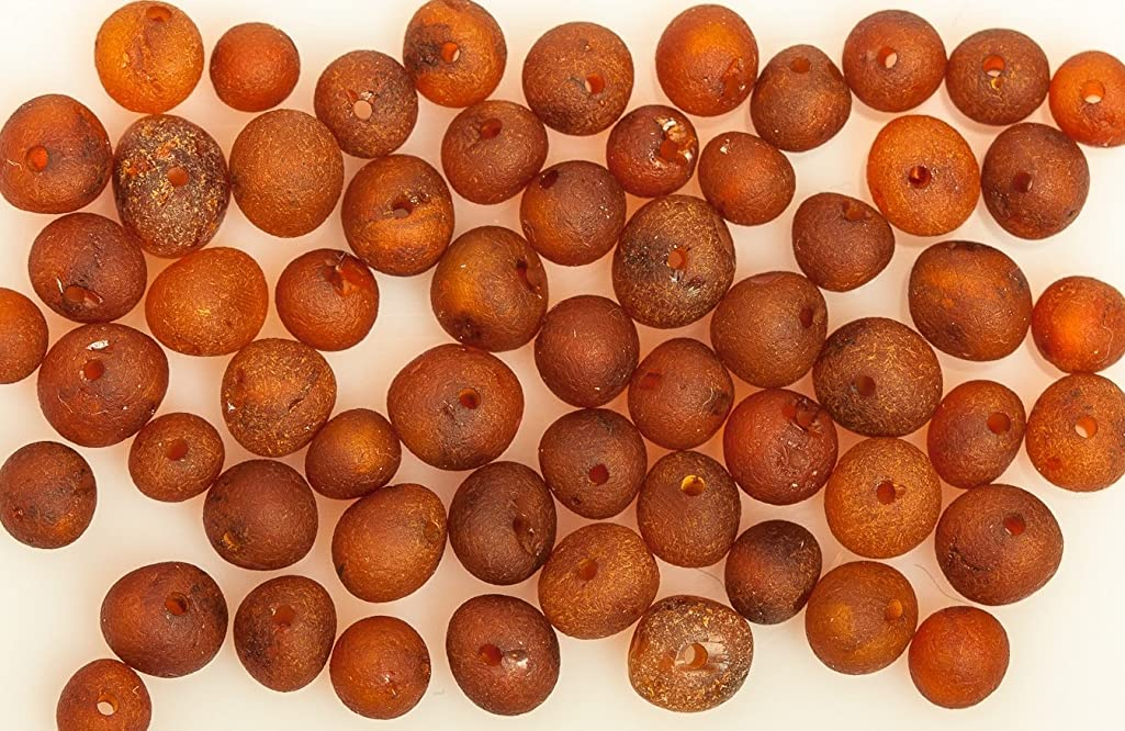 50 Pcs Raw Baltic Amber Beads with Hole