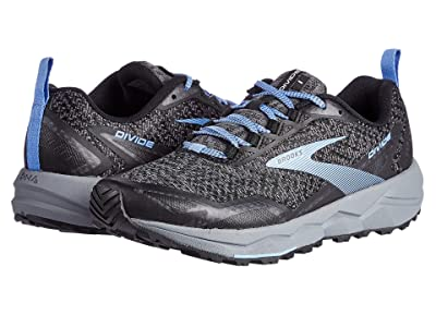 Brooks Divide (Grey/Black/Cornflower Blue) Women