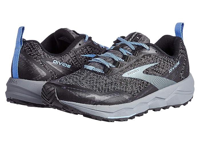 Brooks  Divide (Grey/Black/Cornflower Blue) Womens Running Shoes