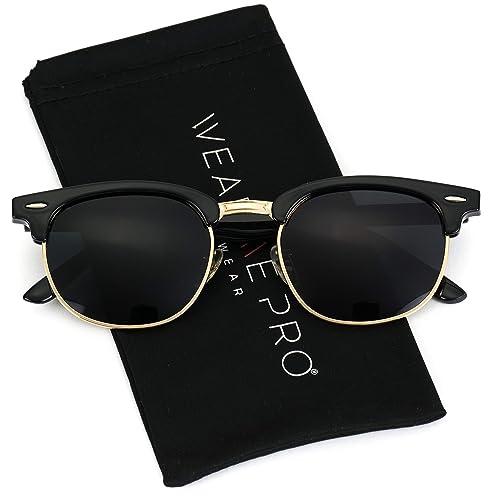 644299511a WearMe Pro - Classic Half Frame Polarized Semi-Rimless Rimmed Sunglasses