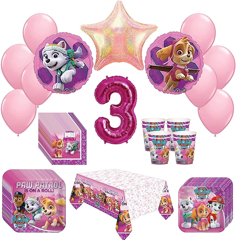 a la venta Girl Pups Paw Patrol Skye & & & Everest 3st Birthday Party Pack 52pc by Rapid-N- Guaranteed  la calidad primero los consumidores primero