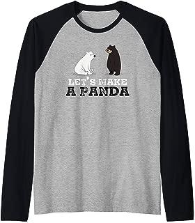 Let's Make A Panda - Funny Couple Raglan Baseball Tee