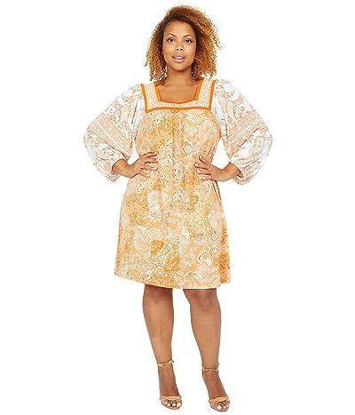MICHAEL Michael Kors Paisley Square Neck Border Dress Women