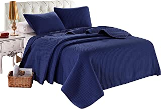 Best navy blue quilted bedspread Reviews