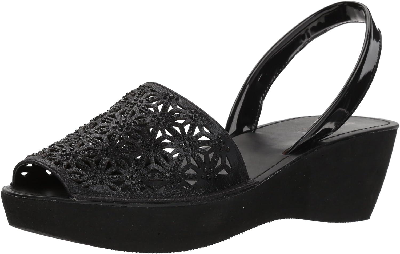 Kenneth Cole REACTION Womens Shine Far Platform Slingback Wedge Sandal Wedge Sandal