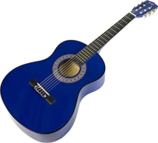Music Alley MA-34-BL Acoustic Beginner Guitar Pack, Blue